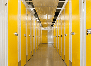 Beehive yellow self storage doors
