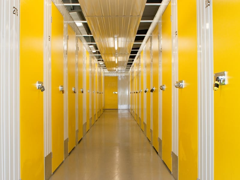Beehive Self Storage yellow doors