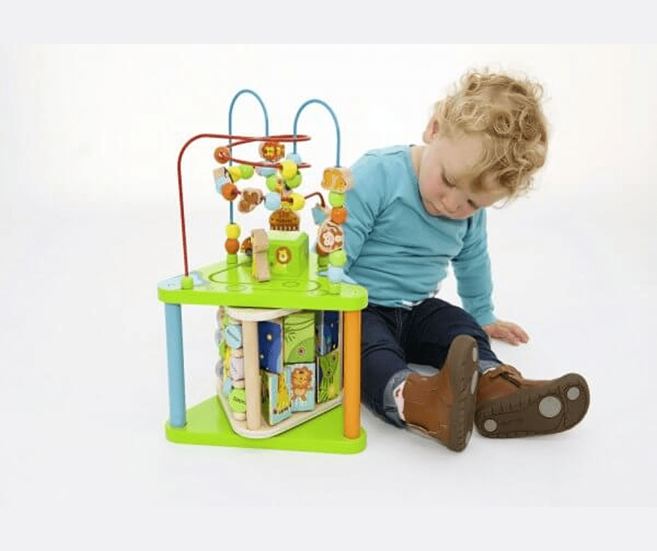 Toddler with activity centre