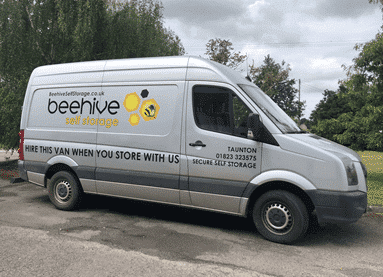 Our Beehive Self Storage van